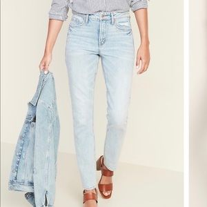 OLD NAVY High Waisted Power Slim Straight Jeans
